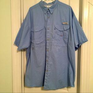 8cc84747 Columbia Shirts   New Pfg Bonehead Short Sleeve Shirt Blue   Poshmark